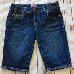 NOBO No Boundaries- Denim Crop Shorts, Size 9